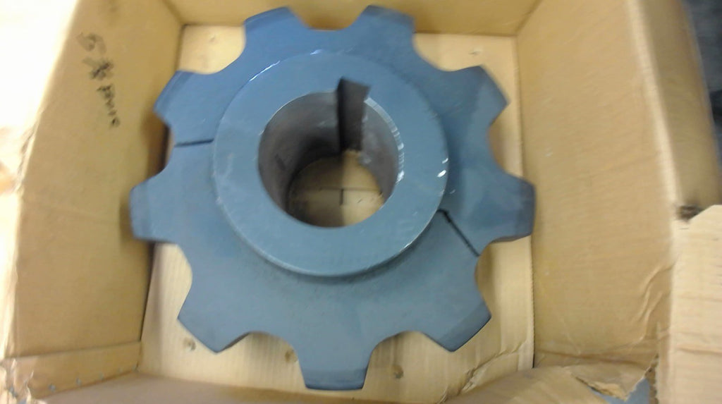 "Martin Split Sprocket 9 Teeth 5-3/8"" Bore 1-1/4"" Key X 5/8"" Deep, 6-1/4"" Pitch"