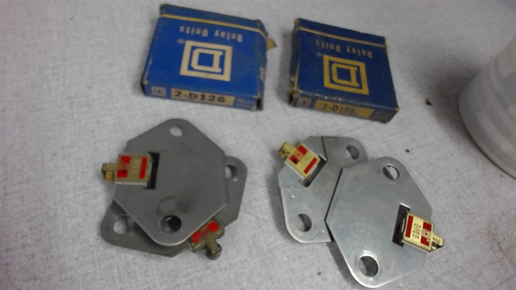 Lot Of 4  Square D, 2-D126, Thermal Overload Relay