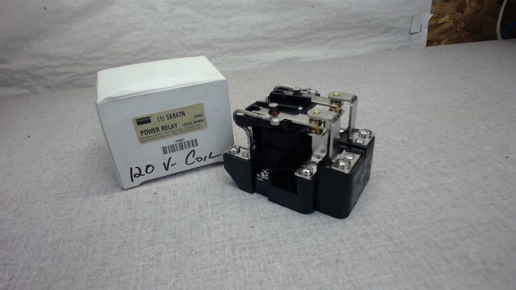 Dayton Power Relay 5X847N, Please See Picture For Rating