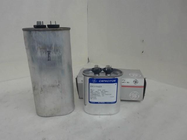 Lot Of 2 Ge 370V Capacitors, 1 Each 20Uf, 1 Each 25Uf