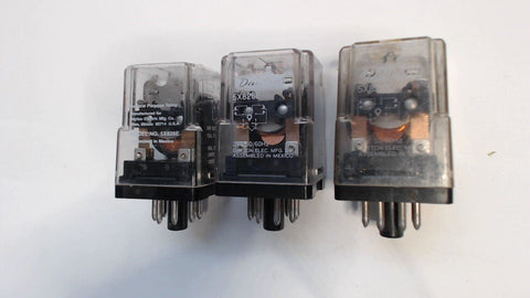3 - DAYTON PURPOSE RELAY - 5X326E - 24V - 50/60HZ - 12A - 120VAC - 8 PIN ROUND