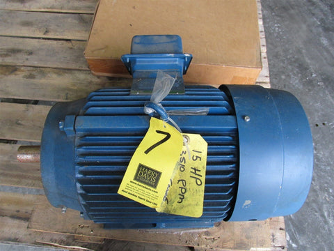 A.O. SMITH  T46008 15 HP, INVERTER DUTY MOTOR, 230/460V, 3510 RPM 4P, 254T,