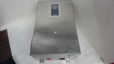 ALLEN-BRADLEY STAINLESS STEEL ELECTRICAL ENCLOSURE, 509-DCD, SERIES A, SIZE 3