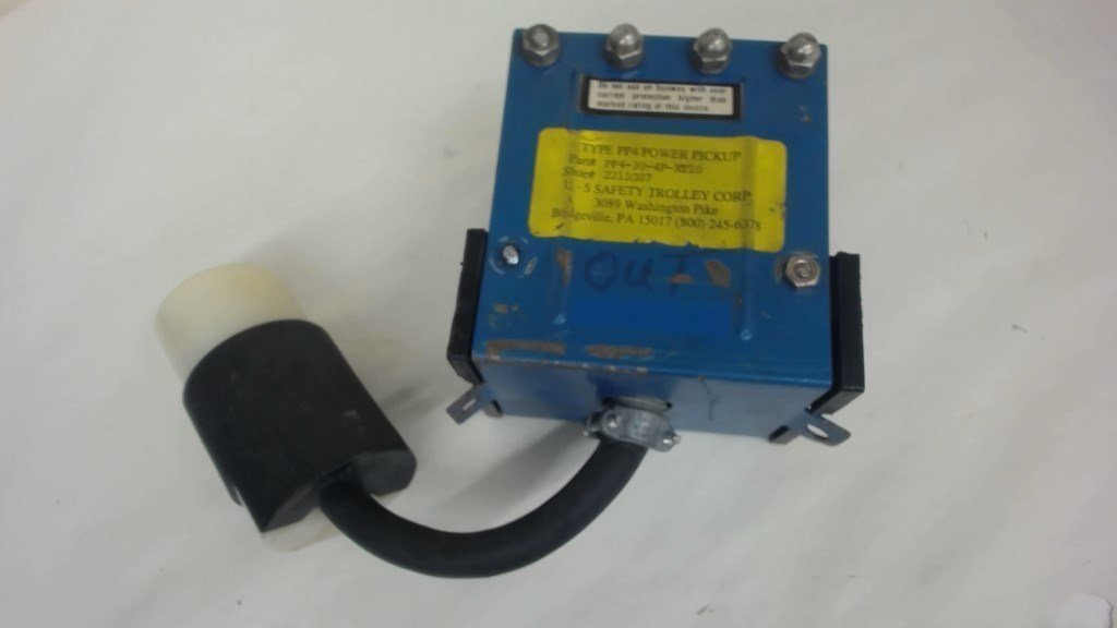 U-S SAFTY TROLLEY CORP. TYPE PP4 POWER PICKUP, P/N PP4-30-4P-XT10, SHOE #2211G07