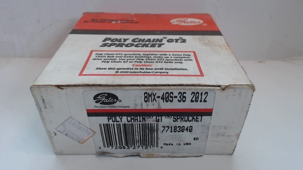 GATES POLY CHAIN GT2 SPROCKET - 8XM-40S-36 2012   - NEW