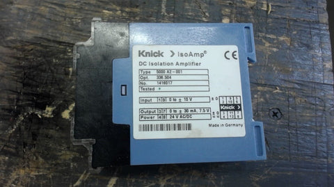 1-KNICK DC ISOLATION AMPLIFIER, TYPE 5000 A2-001 OPT 336.505