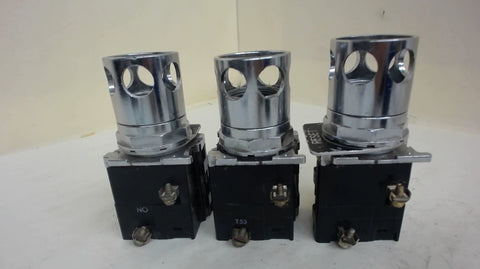 3-CUTLER-HAMMER 10250T/91000T INDICATING LIGHTS WITH GUARD, NO CAP, 250 V DC MAX
