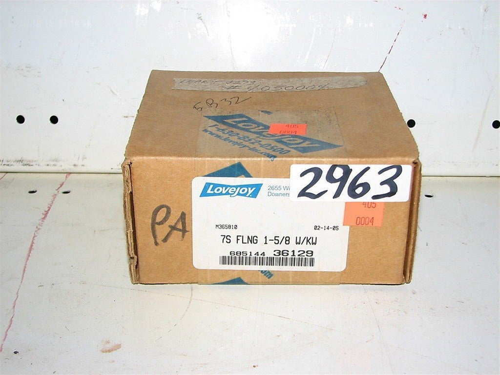 LoveJoy 7S Flange 1 5/8 W/KW, 685144 36129  NEW