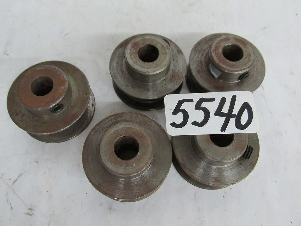 "5 STEEL SHEAVE / PULLEY  1/2"" BORE  - 2"" OD - 5/8"" BELT WIDTH  (""B"" BELT )"