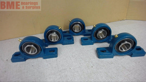 "LOT OF 5--- UCP205-16, 2 BOLT PILLOW BLOCK BEARING 1"" BORE"