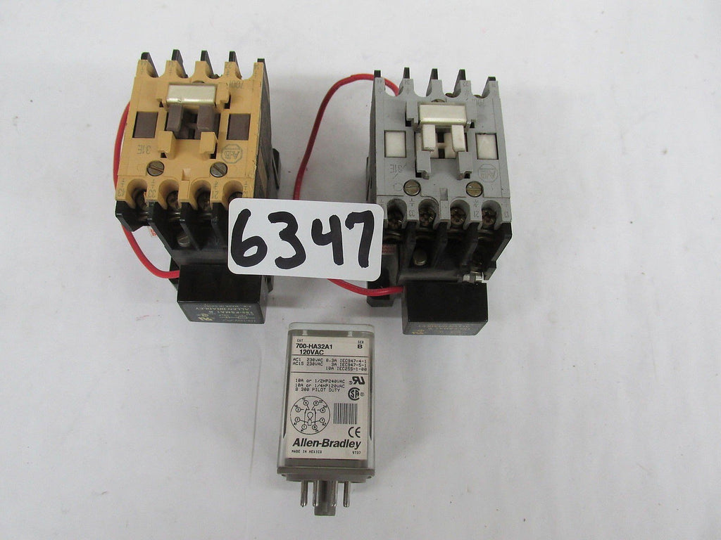 4 Allen Bradley Contactors 2: 700-F310A1 2: 199-FSMA1 AND 1: Relay 700-HA32A1