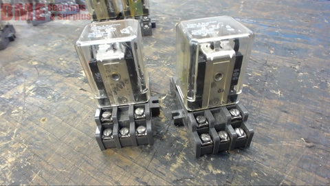 2-POTTER & BRUMFIELD KUP-14Z11-120 ICE CUBE RELAY WITH SOCKET BASE, 120 V COIL