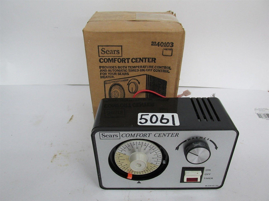 SEARS COMFORT CENTER SWITCH - ON/OFF/ 24 HR TIMER - THERMOSTAT ADJUSTABLE - NEW