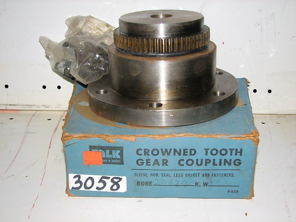 "FALK Crowned Tooth Gear Coupling  20G20- Bore 1"" , Not Keyed, NEW"