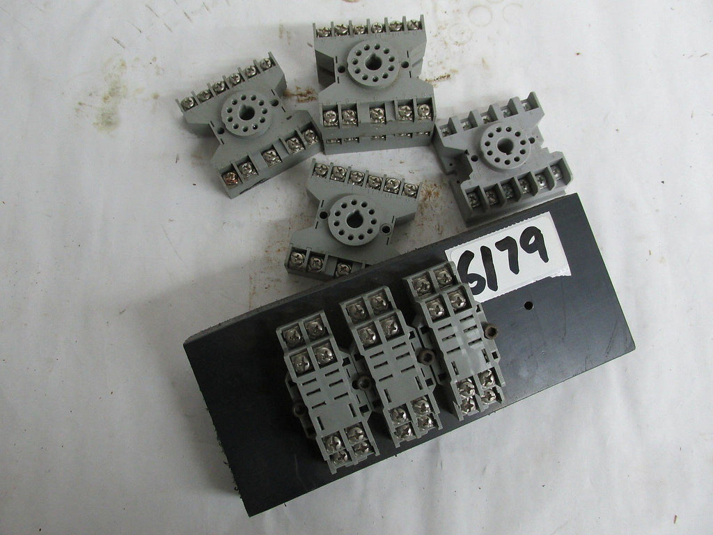 9 Contact Blocks -Dayton/Potterbrumfield /  P&B Contact Blocks - Plastic - Used