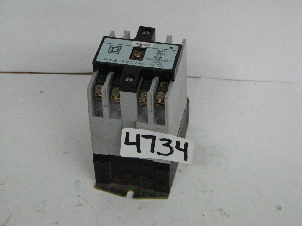 Square D 9998X449840 Relay 120V 8501 Type X 600VAC 20A