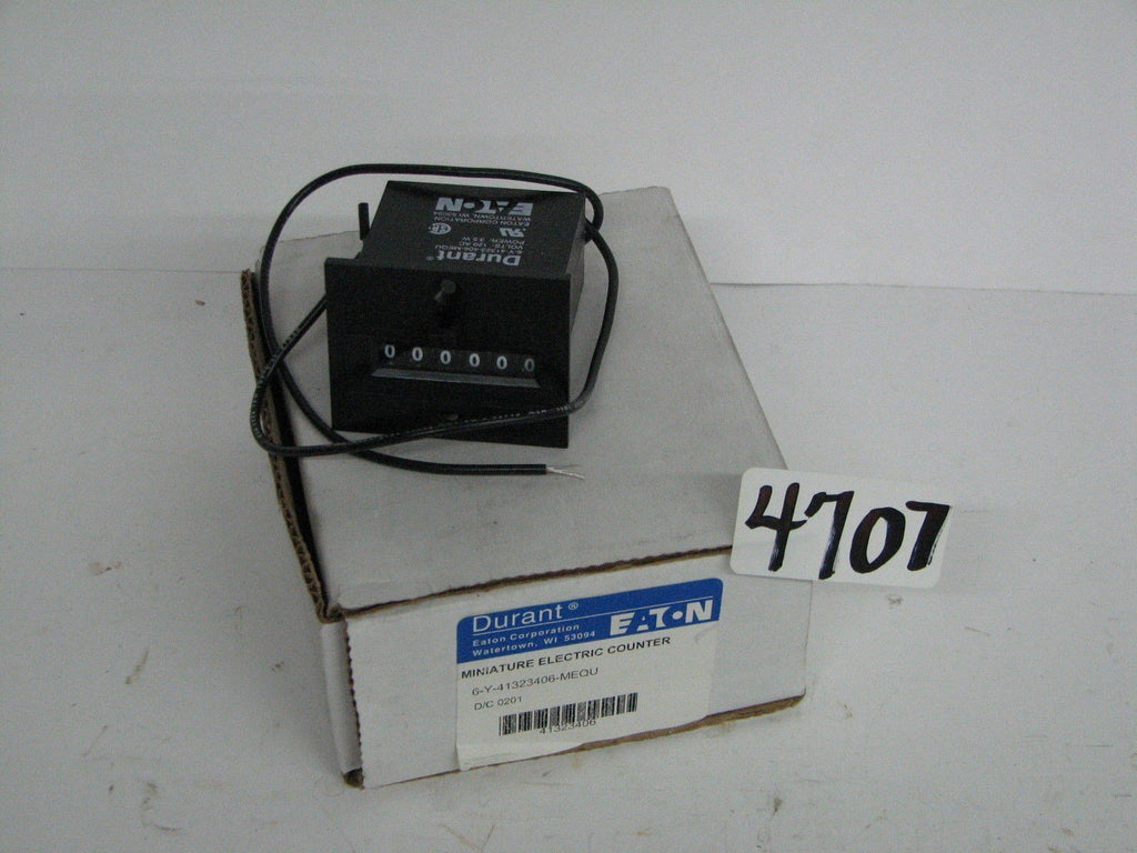 Eaton Durant 6-Y-41323406-MEQLL Miniature Electric Counter w/ Instruction Sheet