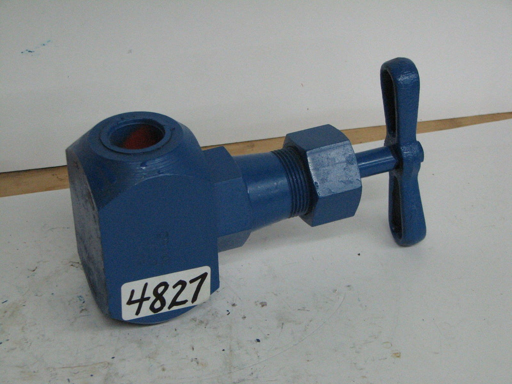 "Crane #1 Hydraulic Valve 3000 Wog 222H Steel Manual Gate Valve 1-1"" Mnpt"