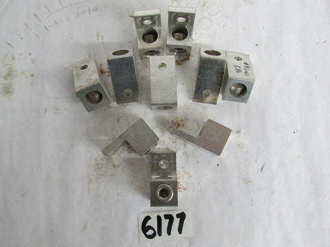 "10 PIECES BKB ELECTRICAL LUGS # ADR-25 , AL9C7 , 250MCM-6 SIZE  5/16"" - 2""x1""x1"""