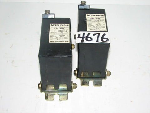 LOT OF 2  MITSUBISHI CURRENT TRANSFORMERS  -  TYPE CW-15LM - 1150V  - 50/60 HZ