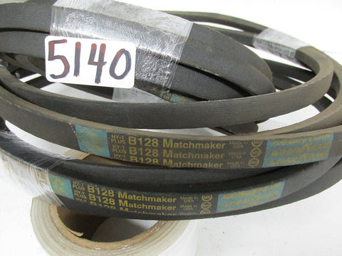 3 GOODYEAR HY-T-PLUS B-128 MATCHMAKER V-BELTS  - NEW