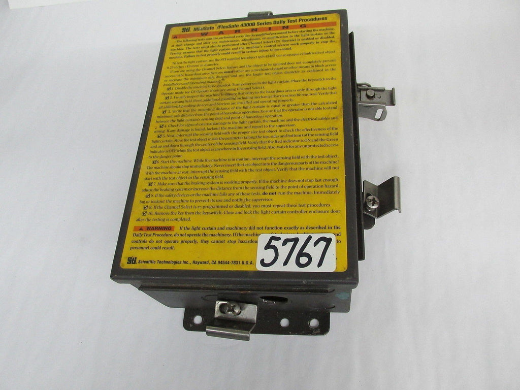 SCI SAFETY LIGHT CURTIAN CONTROL W/ CONTROL PANEL - 43268-06  -  117 VAC/220 VAC