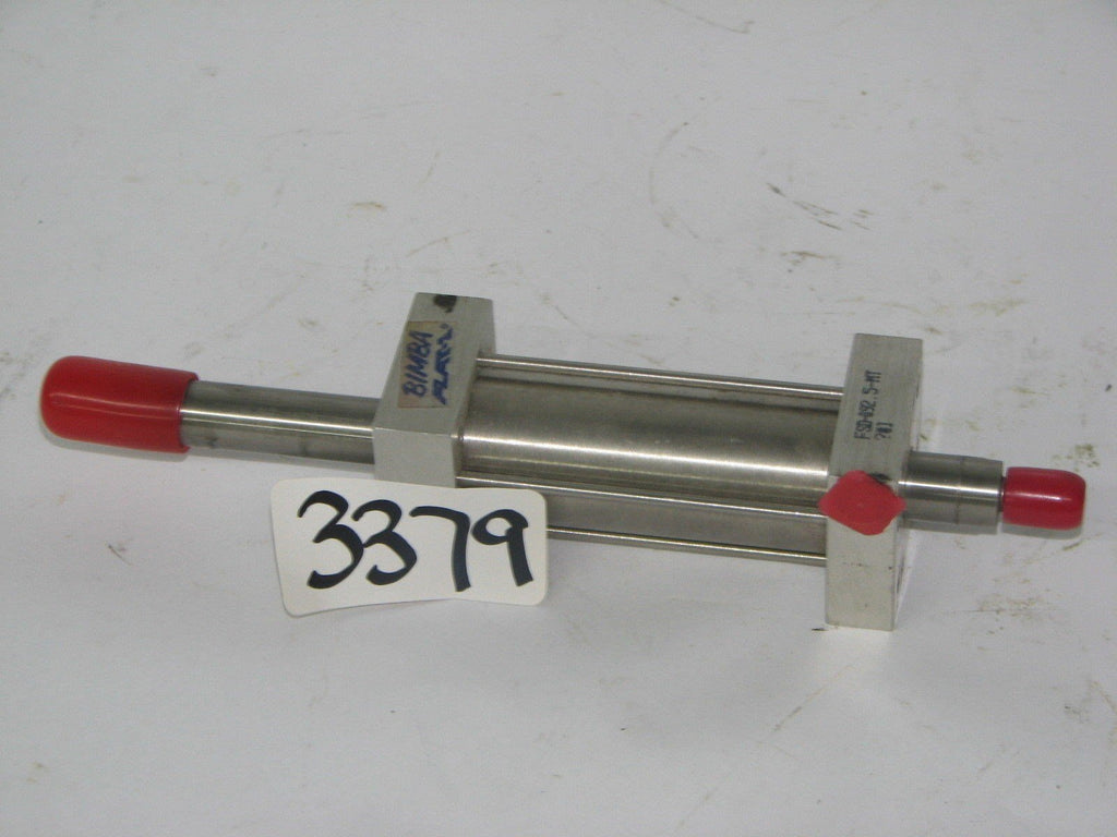 "Bimba Flat-1 Pneumatic Cylinder Double Acting FSD-092.5-MT 3/8"" Ram 1"" Bore"