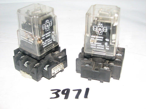2 Dayton Relay ( 3X742E ) & Allen Bradley Relay Blocks ( 700-HN126 ) Used