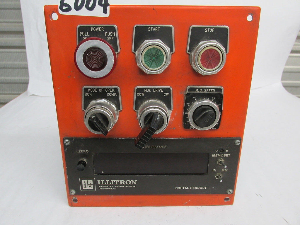 ITW ILLITRON CONTROL PANEL - DIGITAL READ OUT - 9001 CLASS - TYPE KA-1 - SER. G