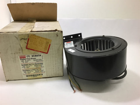 Dayton 2C647A Blower 134 CFM 115 V 60/50 Hz 1/70 HP 1500 Rpm 62 Watts 0.65 Amps