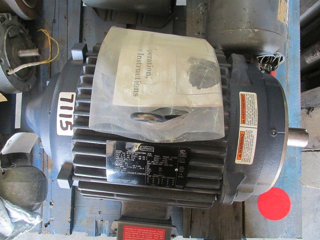 Ac Electric Motor, 7-1/2 Hp, 460V Inverter Duty, 1775 Rpm, 3/60, 213/5Tc Fr,