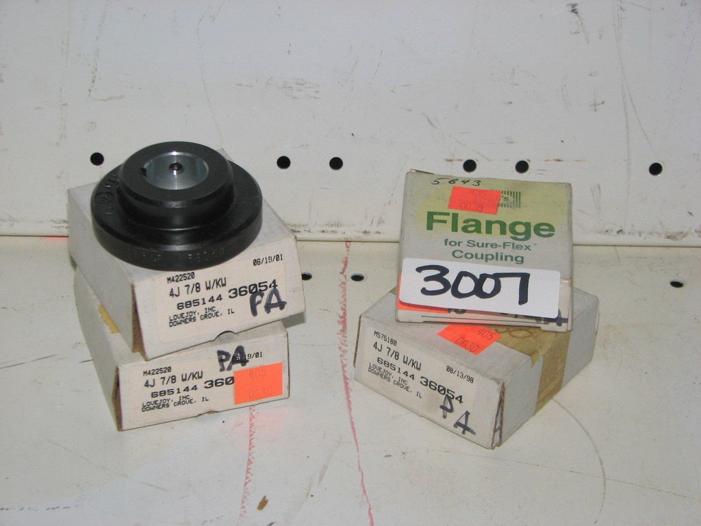 "3 Lovejoy 4J Flanges 7/8"" W/KW 68514436054 -AND- 1 Woods 4J Flange 7/8"