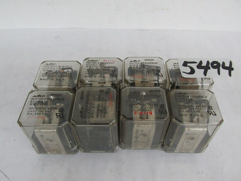 8 POTTER & BRUMFIELD RELAYS KUP5D15  - 24 VDC - 1/4 HP - 120 VAC - NEW