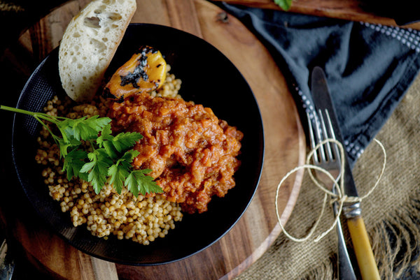 Meatballs in Tomato and Eggplant Sauce With Moroccan Cous Cous 280g - 500g