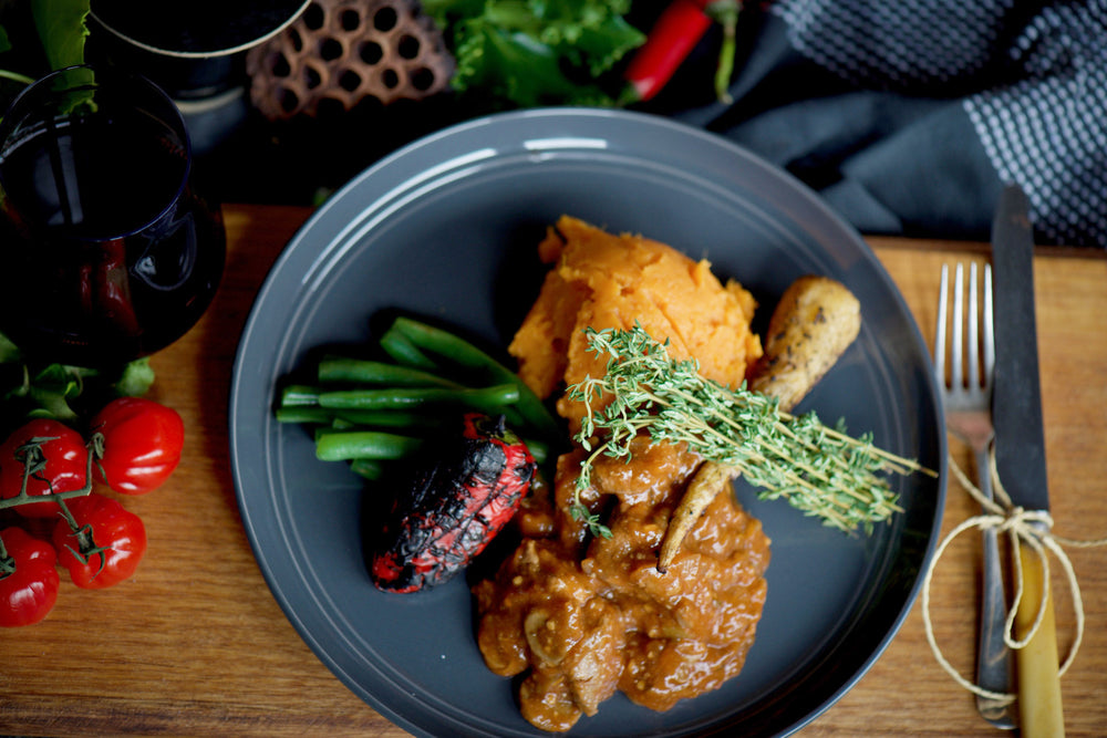 Lamb Tagine with Sweet Potato mash and Beans 280g - 380g