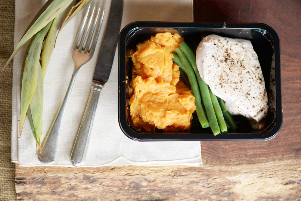 Lemon Herb Chicken with Sweet Potato Mash and Beans 280g - 380g