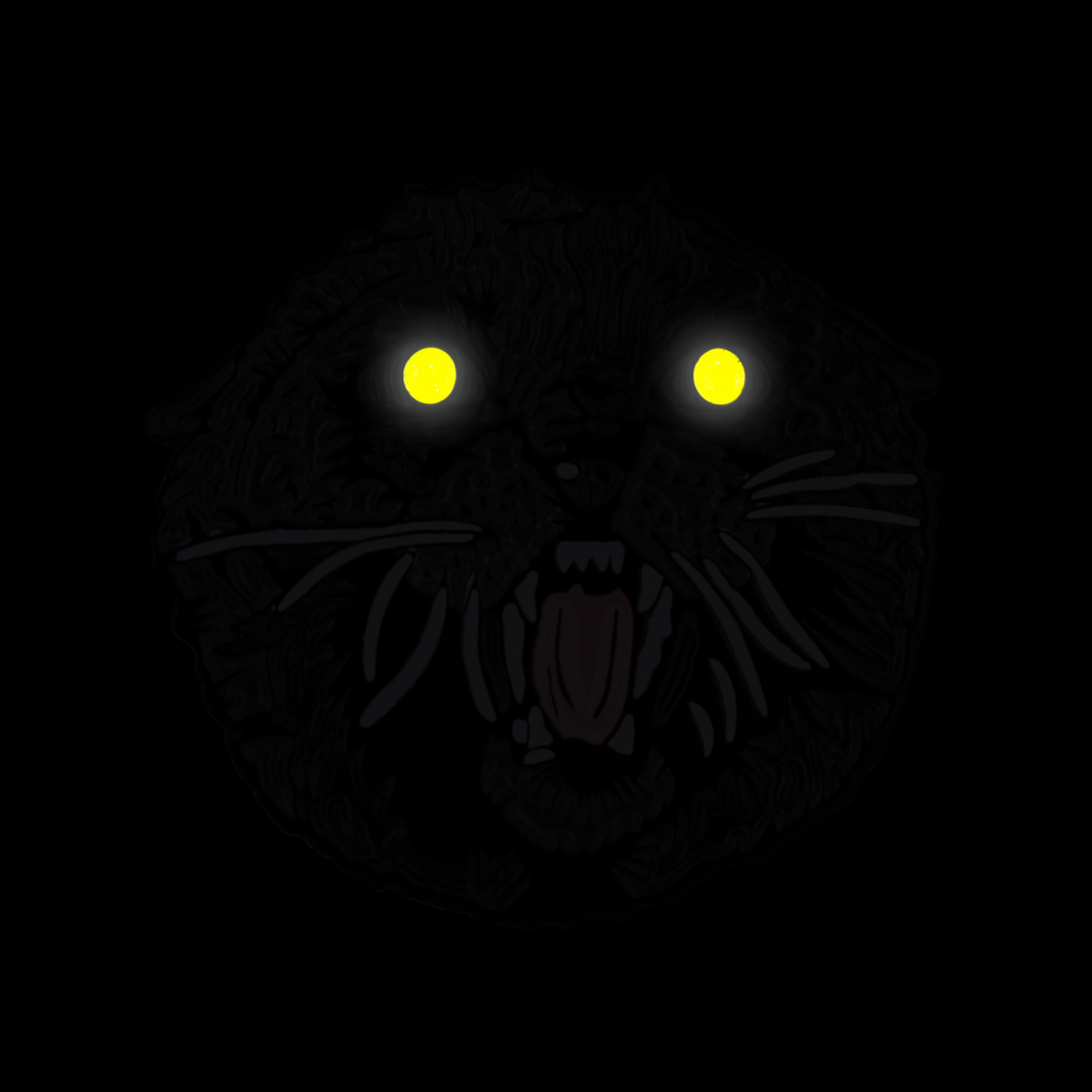 Cats Eyes Road >> Comeback Cat Pin - Glowing Eyes - Enamel Pin - Horror – LunarCryptCo