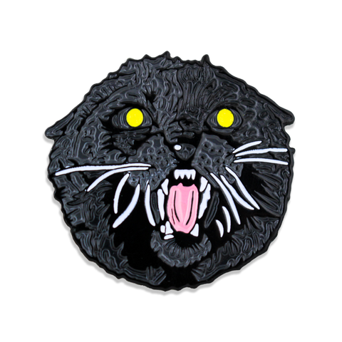 Comeback Cat Pin - Glowing Eyes - Enamel Pin - Horror