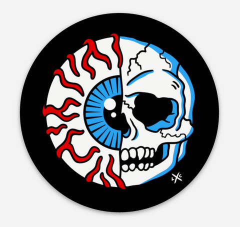 EyeSkull Ball - Vinyl Sticker