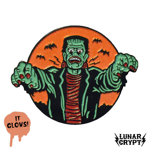 Spooky Monster - Glowing Enamel Pin - Horror
