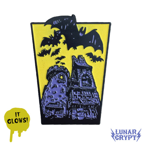 Belfry Bats - Glowing Enamel Pin - Horror