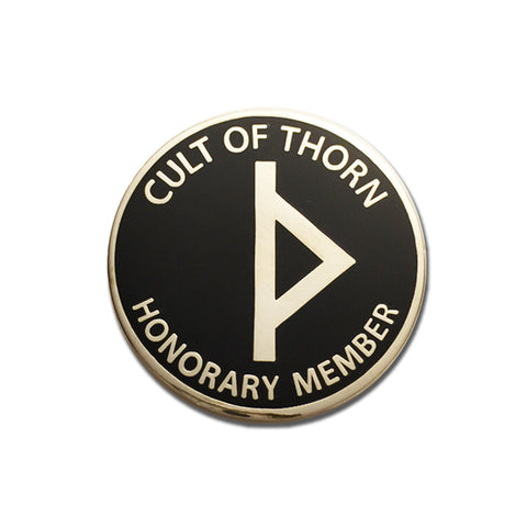 Cult of Thorn, Honorary Member - Hard Enamel Pin - Horror