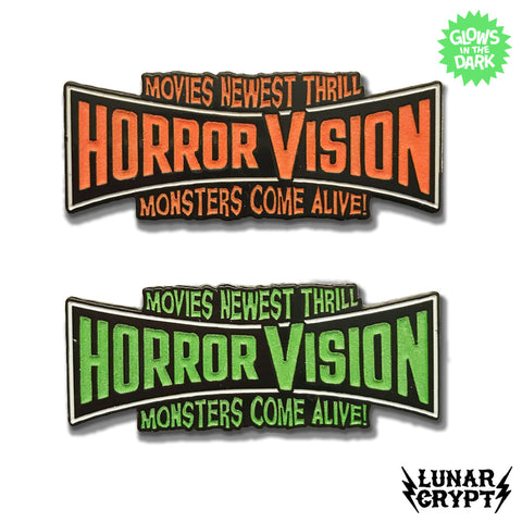 HorrorVision - Glow - Enamel Pin - Your Choice of Styles!