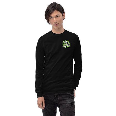 Lucky Skull Ring - Unisex Long Sleeve Shirt