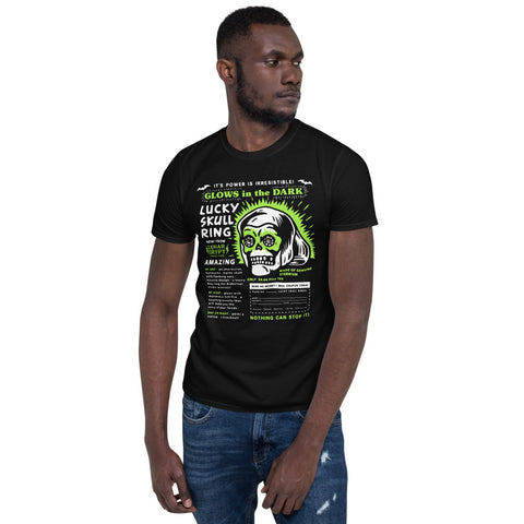 Lucky Skull Ring Mail Away Ad - Unisex T-Shirt