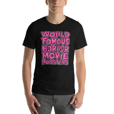 World Famous Horror Movie Monsters - Unisex Tee