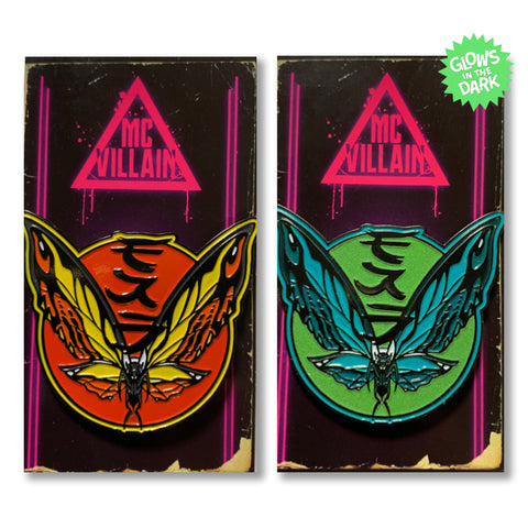 McVillain Mothra - Soft Enamel Pin - Your Choice of Styles!
