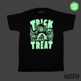 Glowing Trick Or Treat  Reaper - Black Shirt