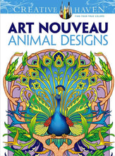 Art Nouveau Animal Designs - Coloring Book Zone