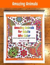 Amazing Animals for Adults Who Color - Live Your Life in Color Series - Coloring Book Zone